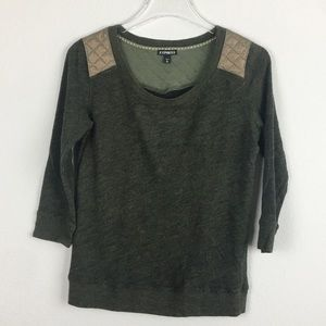 Express   Green Popover Top   XS TP
